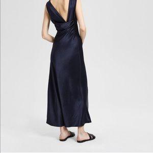 Theory Cowl-back Maxi Dress